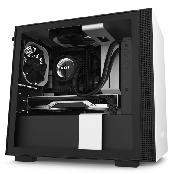 NZXT H210 Matte White / Black Mini-ITX Tower Case